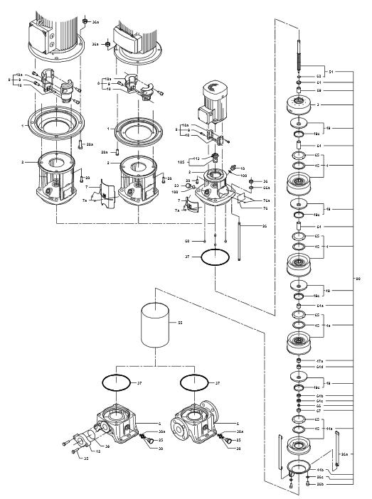 Деталировка Grundfos CR